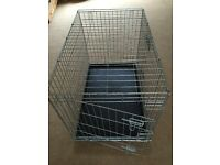 Large Dog Cage / Crate & Fleece Mat