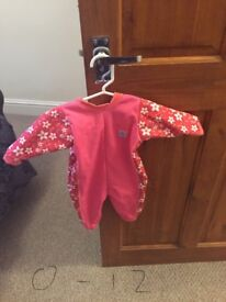 0-12 months baby girl swimming costumes and wetsuit