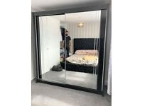 💥💯STAY INDOOR & BUY 2 AND 3 MIRRORED DOORS SLIDING WARDROBES WITH SHELVES, RAILS