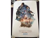 Complete Set Of Genuine Star Wars Rogue One IMAX Posters