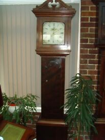Mahogany cased Grandfather clock circa 1830