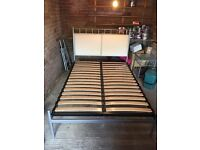 'And So To Bed' Double Bed Frame & Matching Bedside Table
