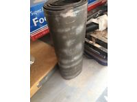Part used roll of lead 206cm long 9.5inches wide