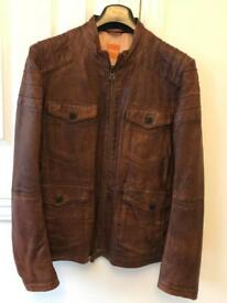 Hugo Boss Leather Jacket Size 42R