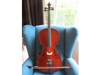 Stentor Student II Cello 1/4 Size with Bow, Bag & Brand New Strings - Lovely Condition!