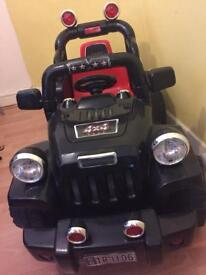 Black and red Jeep 6V Electric Ride On