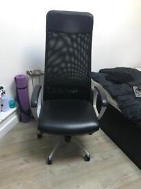 Ikea black office chair