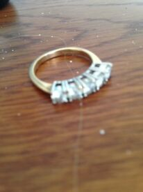 princess 5 diamond set eternity ring