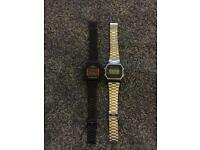 2x casio unisex watches