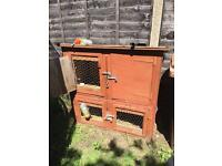 Large Rabbit Hutch and Run and Accessories