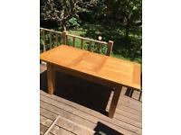 Oak 6 place folding dining table