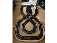 Scalextric Digital Layout with Double Flyover & 2 Digital Cars