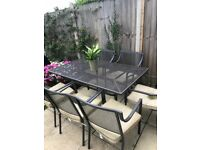 Garden table with 6 chairs