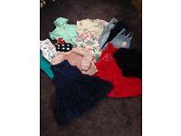 Bundle designer girls clothes 7-8 includes Barbour coat