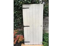 Wooden Shed door