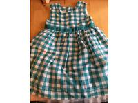 blue and white checked dress M&S age 12-18mths