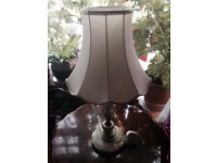 OLD VINTAGE MARBEL TABLE LAMP