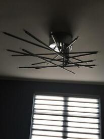 Designer chrome ceiling lights