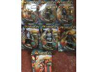 Thundercats 7 brand new factory sealed figures & DVD can post