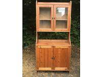 Lovely pine display cabinet