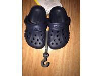 Baby navy genuine crocs
