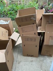 Boxes for moving…FREE to collector
