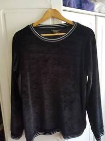 Lipsy long sleeve velour top