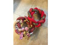 2 Handcrafted Plaited Christmas Wreaths - (NEW)