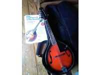 Stagg mandolin in mint condition + case + set of strings + tuner + book
