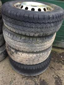 2 195/70/15 tyre and rims suit sprinter or vw lt