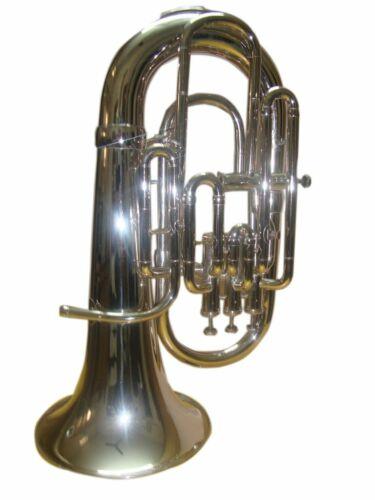 WEEKEND SALE Sai Musical Bb 4 VALVE EUPHONIUM Brass Musical Instrument NICKEL