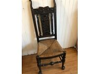Ornate wooden chair , carved detail must been seen . Good quality and condition .