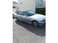 E36 Silver BMW Convertible