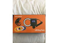 Neewer 48 Macro LED Ring Flash Light Includes 4 Diffusers
