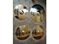 Hardly Used Sabian Pro Sonix Cymbals