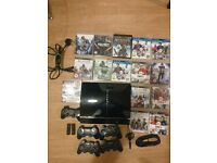 Sony PlayStation 3 Console + 5 Controllers + 14 Games