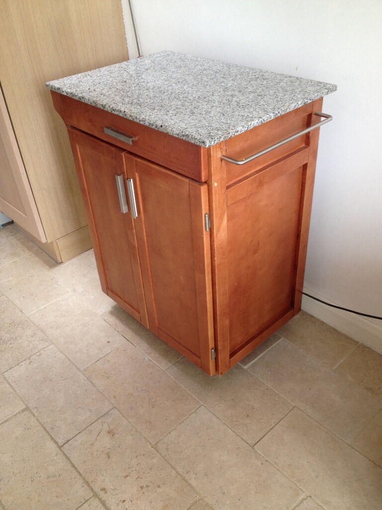 Granite Top Kitchen Trolley Granite Topped Hardwood Kitchen Trolley Island Rolling Cabinet