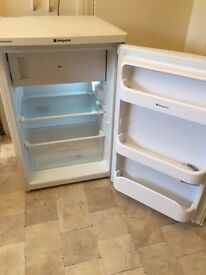 Fridge. White Hotpoint. Excellent condition. Under worktop height