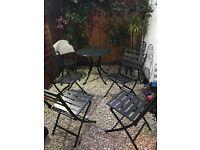 4 x Garden chairs Metal