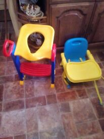 Toddlers dining chair and toilet step