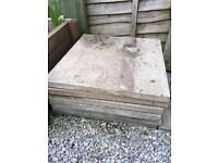 2ft square concrete patio slabs X7 in total