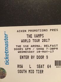 3 Tickets to The Vamps World Tour 2017 Belfast