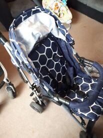 Blue stroller