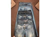 6 pairs of women's Janice replay jeans