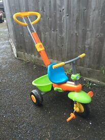 Mothercare smart trike with parent handle- vgc