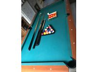 Slate bed American Pool Table 6ft x 3ft play surface