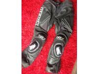 Berik leather motorbike motorcycle bike trousers (not alpinestars furygan Dainese) waist 30