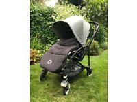 Bugaboo Pram Pushchair | Black base and Grey Melange Seat Fabric and Sun Canopy | £395