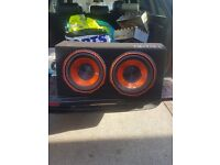 Edge subwoofer 12inch twin 1800watt
