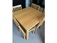 Oak Table & Chairs set